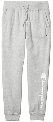 Champion Kids French Terry Script Joggers (Big Kids) (Oxford Heather) Girl's Casual Pants