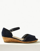 Marks and Spencer Suede Wedge Heel Sandals
