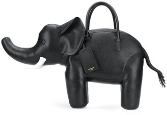 Thom Browne pebbled Elephant tote