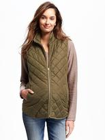 Old Navy Maternity Zip-Front Quilted Vest