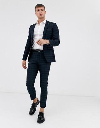 Burton Menswear super skinny fit suit trousers in black watch check