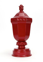 Oscar de la Renta Vermilion Greek Key Ginger Jar