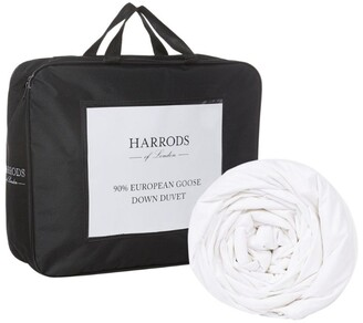 Harrods Super King 90% European Goose Down Duvet (13.5 Tog)