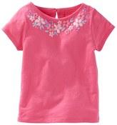 Osh Kosh Toddler Girl Flower Embellished Jersey Tee
