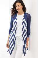 J. Jill Linen & Viscose Striped Cardi