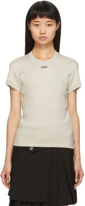 Off-White Off White Beige Tiny T-Shirt