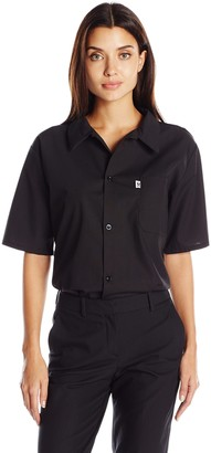 Uncommon Threads Unisex Restaurant Utility Shirt with Snap Closure