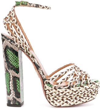 Aquazzura Cozumel 140mm platform sandals