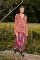 Urban Outfitters UO Jo Plaid Button-Front Midi Skirt