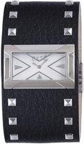 Exte Women's EX.4017M/05 Black Calfskin Band watch.