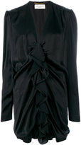 Saint Laurent ruched mini dress - women - Silk/Viscose - 38