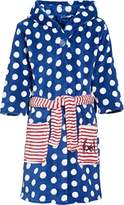 Playshoes Girl's Seahorses Fleece Bathrobe,5-6 Years (Manufacturer Size:110/116)