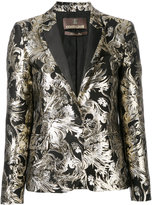 Roberto Cavalli embroidered blazer - women - Cotton/Acrylic/Polyester/Wool - 40
