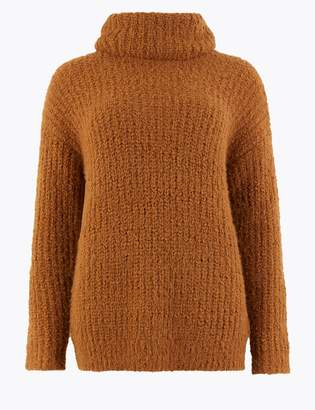 M&S CollectionMarks and Spencer Textured Cowl Neck Jumper