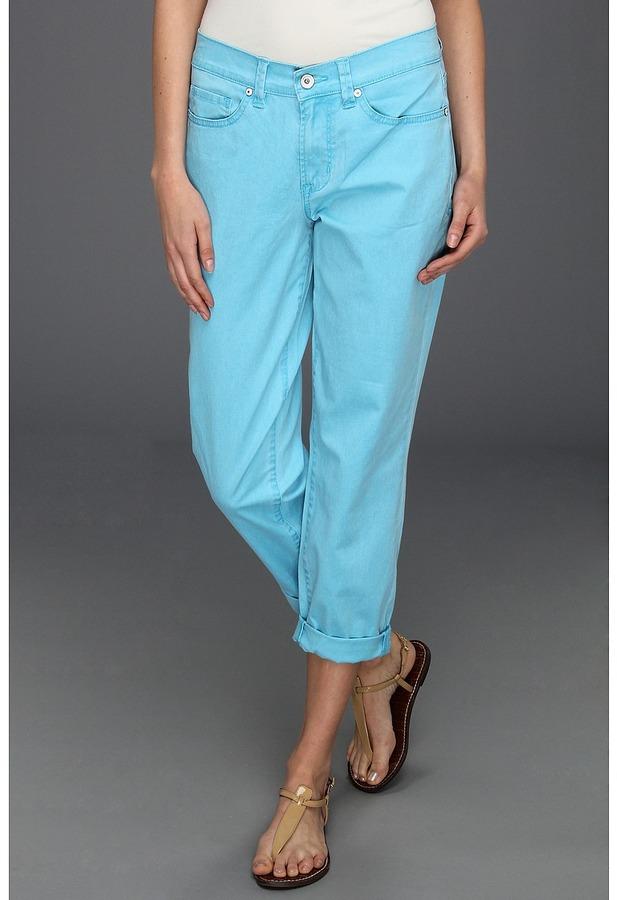 Calvin Klein Jeans Skinny Ankle Crop in Calypso Blue (Calypso Blue) - Apparel