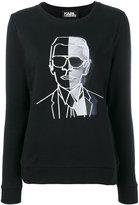 Karl Lagerfeld print sweatshirt - women - Cotton - L