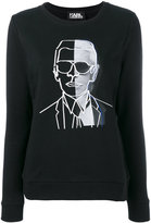 Karl Lagerfeld print sweatshirt - women - Cotton - S