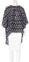 Thomas Wylde Silk Abstract Print Top w/ Tags