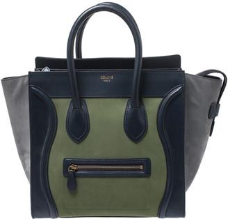 Celine Multicolor Nubuck and Leather Mini Luggage Tote