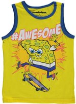 "Nickelodeon SpongeBob Squarepants Little Boys' ""#Awesome"" Tank Top"