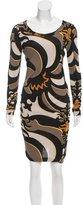 Emilio Pucci Sheath Abstract Dress