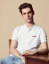 Amour flocked polo shirt