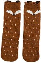 Jiayiqi Lovely Fox Sweet Smile High Knee Socks Trendy Children Stocking for Girls