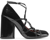 Marc Jacobs Carrie Ghillie Lace-up Patent-leather Pumps - Black