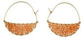 Wendy Mink Champagne Crescent Hoop Earrings