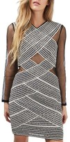 Topshop Women's Mesh Bandage Dress