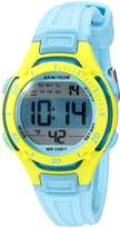 Armitron Sport Armitron Women's 45/7062BLU Lime Green Accented Digital Chronograph Light Blue Resin Strap Watch