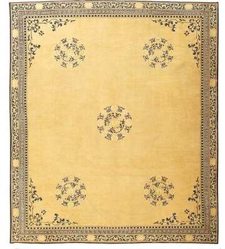 Blue & Cream Nazmiyal Collection Chinese Decorative Antique Blue/Cream Area Rug Nazmiyal Collection