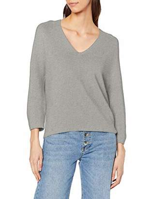 Benetton Women's V Neck Sweater L/s Jumper Not Applicable,(Manufacturer Size: Small)