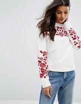 MANGO Embroidered Sweatshirt
