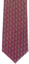 Hermes Anchor Print Silk Tie
