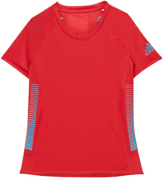 adidas Mesh-paneled Printed Stretch-jersey T-shirt