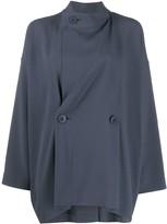 Issey Miyake 132 5. cape-style asymmetric jacket