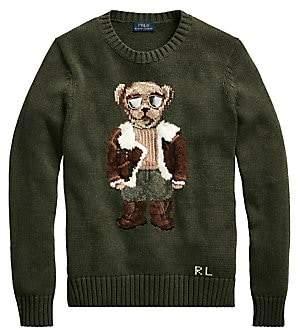 Polo Ralph Lauren Women's Iconic Polo Bear Knit Sweater