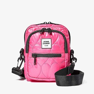 Opening Ceremony Quilted Mini Crossbody (Fluo Pink) Handbags