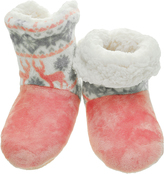 Angelina Pink Deer Sherpa-Lined Slippers