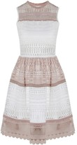 Alexis Melania Dress White Beige