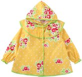 MW WM Girls' Raincoat, Princess Floral Style Sweet Pink / (M, )
