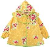 MW WM Girls' Raincoat, Princess Floral Style Sweet / Yellow (M, )