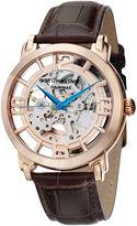 Stuhrling Original Mens Brown Strap Watch-Sp11336