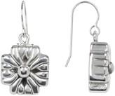 Simon Sebbag Sterling Silver Mini Braided Cross Drop Earrings