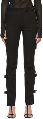 Helmut Lang Black Strap Trousers