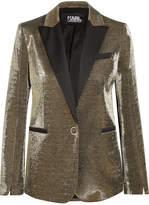 Karl Lagerfeld Cotton-blend Lamé Blazer