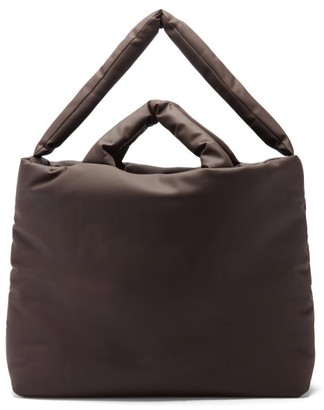 Kassl Editions Rubber Large Padded Tote Bag - Dark Brown