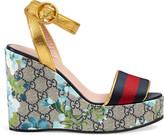Gucci GG Blooms platform sandal