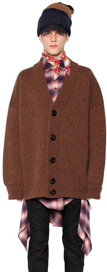 DSQUARED2 Heavy Wool Oversized Cardigan